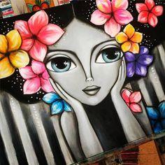 Canvas Painting Tutorials, Dot Art Painting, Watercolor Art, Pichwai Paintings, Modern Art Paintings, Oil Pastel Drawings, Cool Art Drawings, Mandala Art Lesson, Frida Art