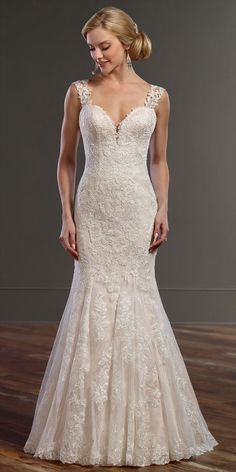 Martina Liana Wedding Dresses - Search our photo gallery for pictures of wedding dresses by Martina Liana. Find the perfect dress with recent Martina Liana photos. Wedding Dress Train, Fit And Flare Wedding Dress, Wedding Dress Sizes, 2017 Bridal, Bridal Gowns, Wedding Gowns, Lace Wedding, Mermaid Wedding, Spring 2017 Wedding Dresses