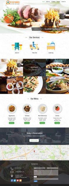 Cafe and Restaurant - Responsive Website Template #website #cafe #restaurant #wordpress #webdesign #template #theme