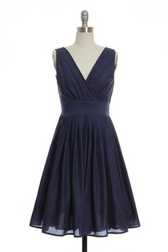One Scoop, or Two?Dress in Navy Blue | Vintage, Retro, Indie Style Dresses