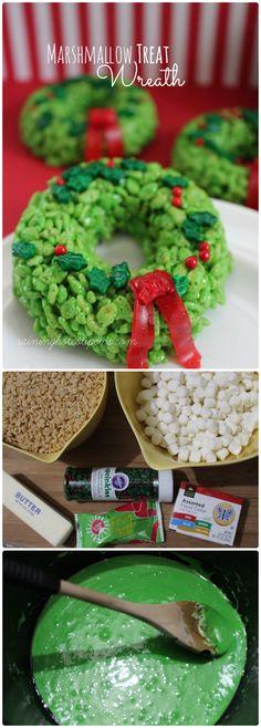 Marshmallow Treat Wreath