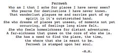 Fernweh, wanderlust