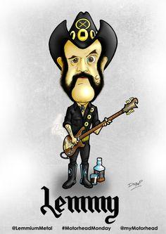 Cartoon of Motorhead's legendary frontman and bassist Lemmy Kilmister uploaded to help celebrate #MotorheadMonday for @LemmiumMetal  #motorhead #rockband #lemmy #lemmykilmister #loud #music #rockmusic #heavymetal #cartoon #caricature #artwork #illustration @Officialmotorhead @chimPENzeee
