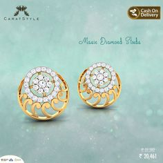 Some #jewellery on the very first sight you know is meant for you <3  #earring #diamond #diamondearring #goldearring #goldjewellery #diamondjewellery #gold #fashion #lifestyle #golddiamondstuds #studearringsonline #studsonlineindia #diamondstudearrings #goldstudearrings