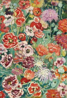 "thunderstruck9: ""Louis Valtat (French, 1869-1952), Panneau de fleurs, 1916. Oil on canvas, 55 x 38 cm. """