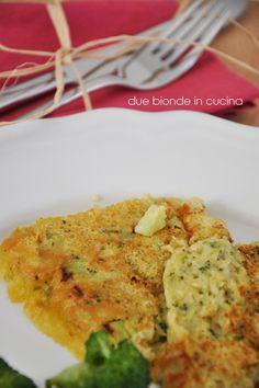 Due bionde in cucina: Frittata di ceci e broccoli