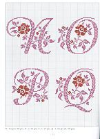Cross-stitch Alphabets with Flowers, part 5... no color chart use pattern chart as your guide..    Gallery.ru / Photo # 13 - Belles Lettres au point de croix - moimeme1