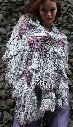 Vapor - Hairpin Lace Shawl by stitchdiva, via Flickr