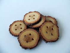 BLACK FRIDAY SALES Use the coupon code BLACKFRIDAYSALES during check out and get 15% discount for minimum purchase 80$ Wood Buttons  Branch Buttons  Slim Handmade by forestinspiration