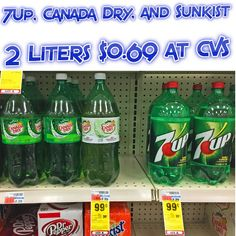 cheap at CVS : 7Up, Canada Dry, and Sunkist 2 Liters $0.69 - http://couponsdowork.com/cvs-weekly-ad/cheap-at-cvs-7up-canada-dry-and-sunkist-2-liters-0-69/