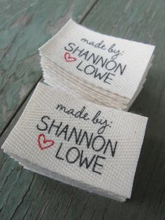 Twill Fabric Labels oneinch ribbon  cut and by inkedpapers on Etsy, $22.00