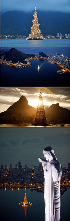 ~Sunset over the world's largest (28-story) Christmas Tree in Rio de Janeiro, Brazil | The House of Beccaria