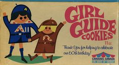 Canadian Girl Guide cookies from earlier than this 1970 piece :) I Am Canadian, Canadian Girls, Canadian History, Girl Scout Cookie Sales, Girl Scout Cookies, Vintage Girls, Vintage Toys, Girl Guide Cookies, O Canada