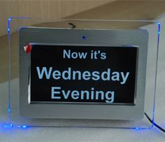 Day clock for dementia patients assist in reminding them of the time of day and day of the week.