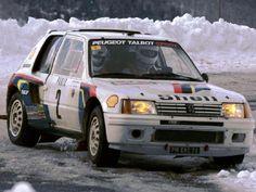 1985 MONTE CARLO RALLY - Peugeot 205 Turbo 16. Entrant: Peugeot Talbot Sport. Drivers: Ari Vatanen / Terry Harryman. Place: 1st o/a.
