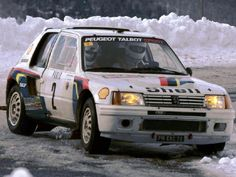 1985 MONTE CARLO RALLY - Peugeot 205 Turbo 16. Entrant: Peugeot Talbot Sport. Drivers: Ari Vatanen / Terry Harryman. Place: 1st o/a.