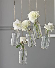 This is a cute decoration for the reception or the ceremony space - and it looks like something that would be easy to make. For more ideas visit www.raspberrywedding.com