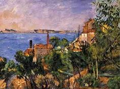 The sea at l'Estaque by Paul Cezanne - 1908