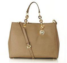 ShopStyle: Michael Kors Taupe Cynthia Women's Satchel Bag