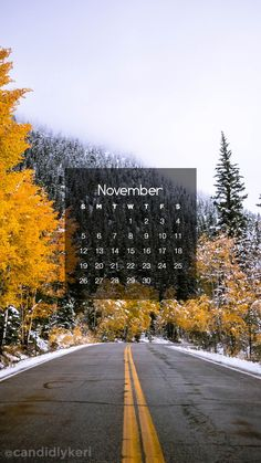 Fall Winter natural forest scene  November calendar 2017 wallpaper you can download on the blog! For any device; mobile, desktop, iphone, android!