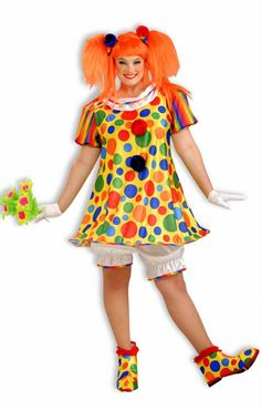 Plus Size Giggles the Clown Costume - Candy Apple Costumes - Circus Ring Master and Clown Costumes