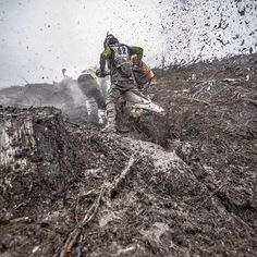 "enduro21 on Instagram: ""Enduro. It's an extreme sport for a reason ✊✊✊ #enduro #suckerpunch #mud #determination image @photograher_brian_till"""