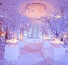 So this changes my mind about winter weddings.... gorgeous ceremony and reception white decor