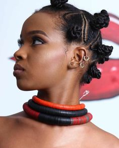 Braided Bantu Knots with Accessories Short Natural Curls, 3c Natural Hair, Natural Hair Braids, Natural Hair Regimen, Braids For Short Hair, Natural Hair Styles, Bantu Knot Hairstyles, Straight Hairstyles, Kid Hairstyles