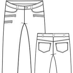 Patrones ropa bebes, uniformes, chicos, niñas... Pantalon 2933 DAMA Tallas Grandes