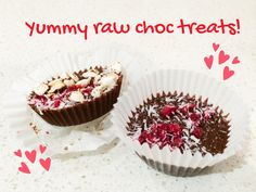 Delicious raw chocolate treats - made with cacao. Easy to make and healthy.
