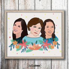 Retrato en ilustración  pareja familia amigos  pedido