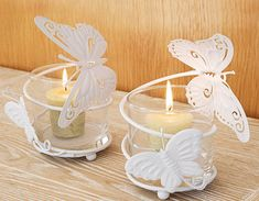 Butterfly candles  Great wedding favor or table decor.    Keywords: #butterflyweddings #jevelweddingplanning Follow Us: www.jevelweddingplanning.com  www.facebook.com/jevelweddingplanning/