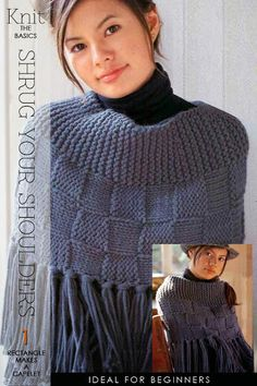 Checkerboard Knit Capelet FREE PATTERN from DiaryofaCreativeFanatic