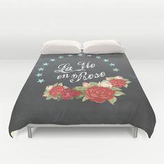 La Vie en Rose Duvet Cover: Home decor by LittleThoughtBubbles
