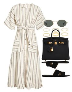 """#14795"" by vany-alvarado ❤ liked on Polyvore featuring Free People, Hermès, Ray-Ban and Topshop"