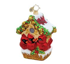 Candabean Collectibles  - Cardinal Bird Jingle Bell Hideway Christmas Glass Ornament, $49.00 (http://www.candabeancollectibles.com/cardinal-bird-jingle-bell-hideway-christmas-glass-ornament/)