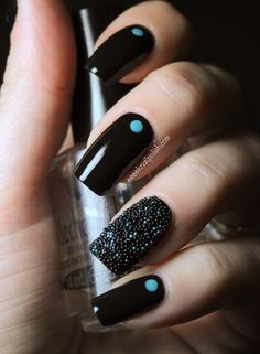 Caviar nails. So cute for the winter.