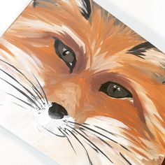 Fox Painting 8x10 canvas woodland nursery product  by 202designs