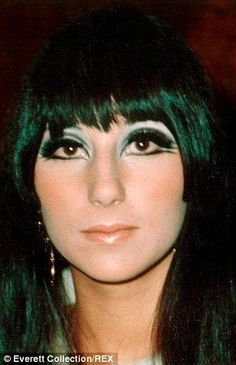 Cher double winged eyeliner 1960's