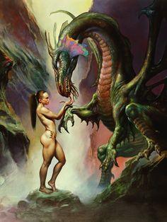 Boris Vallejo e Julie Bell mestres do desenho e da pintura Fantasy Anime, Fantasy Dragon, Fantasy Kunst, Fantasy Warrior, Julie Bell, Boris Vallejo, Art Visionnaire, Bell Art, Drawn Art