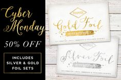 50% off Gold & Silve
