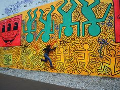 Keith Haring - Houston Street - SOHO - New York  (how EXCITING to LIVE in NYC and see this art evolve around our world .... truly, historic) (RIP)