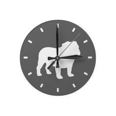 English Bulldog Modern Clock, Want it cheaper? Use this link for coupons: https://www.zazzle.com/coupons?rf=238077998797672559