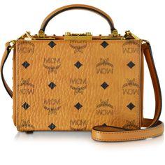 MCM Designer Handbags Berlin Cognac Small Crossbody Bag (71.615 RUB) ❤ liked on Polyvore featuring bags, handbags, shoulder bags, handbags shoulder bags, leather purses, purse crossbody, crossbody shoulder bags and leather crossbody handbags