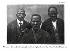 US Slave: Survivors of the slave ship Wanderer: Romeo, Ward Lee and Tucker Henderson