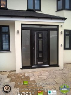 Enjoyable repaired entrance porch design have a peek here Front Door Canopy, Front Door Porch, Porch Doors, Front Porch Design, House Front Door, House With Porch, Garage Door Styles, Garage Door Design, Porch Designs Uk