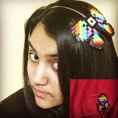 H͓̽a͓̽m͓̽m͓̽a͓̽ b͓̽e͓̽a͓̽d͓̽ h͓̽e͓̽a͓̽d͓̽b͓̽a͓̽n͓̽d͓̽ #Hamma #hama #pearler #bead #rainbow #bead #pixel #headband #accessories #bow #hair #iron