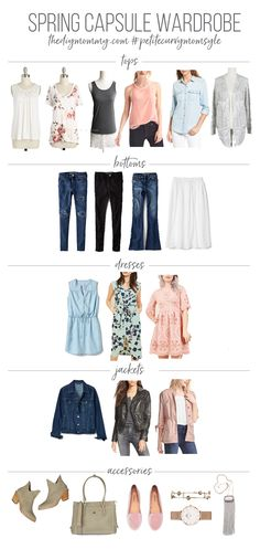 2017 Spring Capsule Wardrobe - Spring Outfit Ideas - Petite Curvy Mom Style: