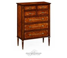Charmant Burr U0026 Mother Of Pearl Tall Chest Of Drawers