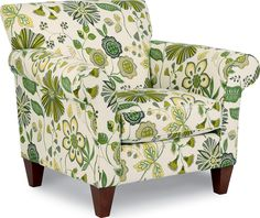 Stylish Home Design with Green Leaves Printed Slipper Chairs at ...